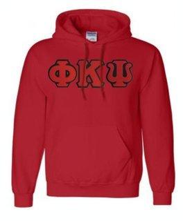 DISCOUNT Phi Kappa Psi Lettered Hooded Sweatshirt