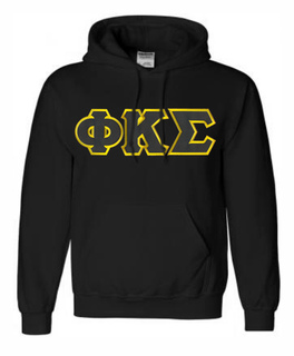 DISCOUNT Phi Kappa Sigma Lettered Hooded Sweatshirt