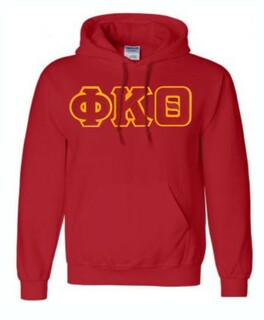 DISCOUNT Phi Kappa Theta Lettered Hooded Sweatshirt