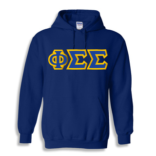 Phi Sigma Sigma Custom Twill Hooded Sweatshirt