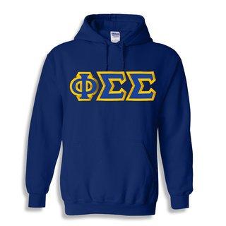 Phi Sigma Sigma Custom Twill Hooded Sweatshirt