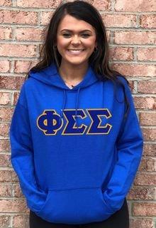 $39.99 Phi Sigma Sigma Lettered Hooded Sweatshirt