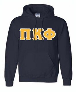DISCOUNT Pi Kappa Phi Lettered Hooded Sweatshirt