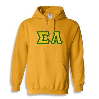 Sigma Alpha Custom Twill Hooded Sweatshirt