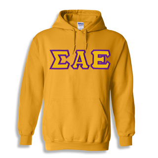 Sigma Alpha Epsilon Custom Twill Hooded Sweatshirt