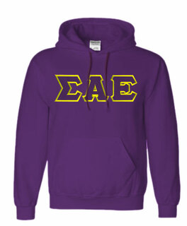 $39.99 Sigma Alpha Epsilon Lettered Hooded Sweatshirt