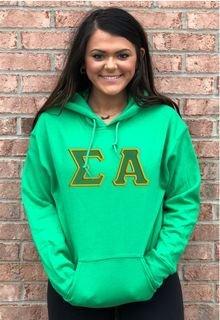 $39.99 Sigma Alpha Lettered Hooded Sweatshirt