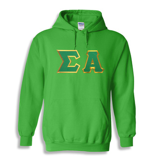 DISCOUNT Sigma Alpha Lettered Hooded Sweatshirt