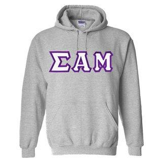 Sigma Alpha Mu Custom Twill Hooded Sweatshirt