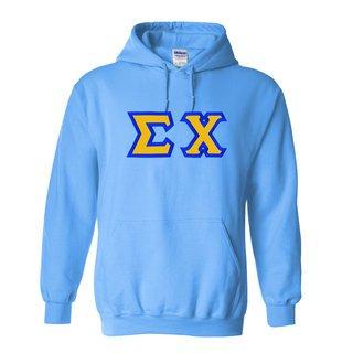 $30 Sigma Chi Custom Twill Hooded Sweatshirt