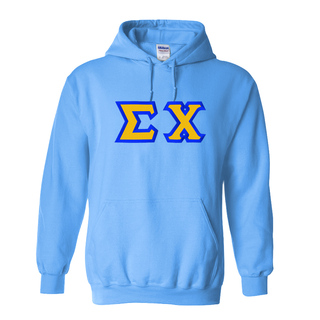 Sigma Chi Custom Twill Hooded Sweatshirt