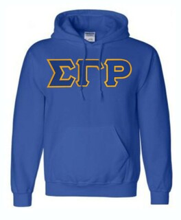 DISCOUNT Sigma Gamma Rho Lettered Hooded Sweatshirt