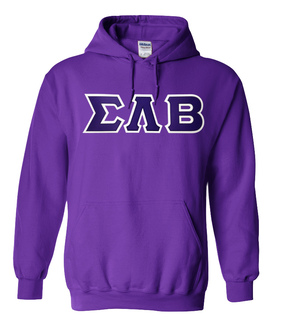 DISCOUNT Sigma Lambda Beta Lettered Hooded Sweatshirt