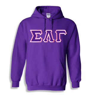 $30 Sigma Lambda Gamma Custom Twill Hooded Sweatshirt