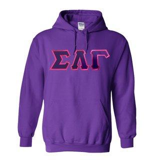 DISCOUNT Sigma Lambda Gamma Sorority Lettered Hooded Sweatshirt