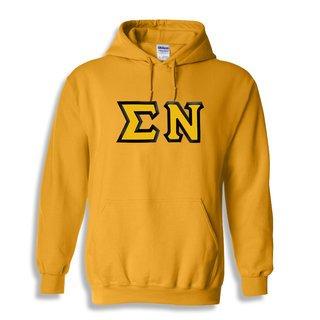 $30 Sigma Nu Custom Twill Hooded Sweatshirt