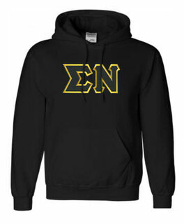 DISCOUNT Sigma Nu Lettered Hooded Sweatshirt