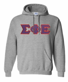 DISCOUNT Sigma Phi Epsilon Lettered Hooded Sweatshirt