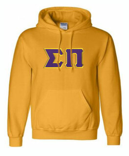DISCOUNT Sigma Pi Lettered Hooded Sweatshirt