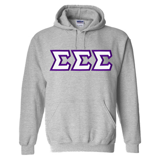 Sigma Sigma Sigma Custom Twill Hooded Sweatshirt