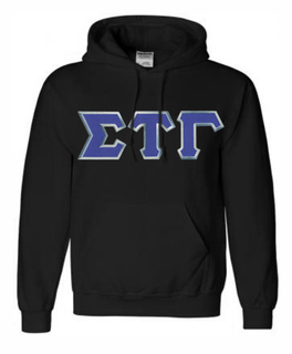 DISCOUNT Sigma Tau Gamma Lettered Hooded Sweatshirt