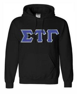 DISCOUNT Sigma Tau Gamma Lettered Hooded Sweatshirt