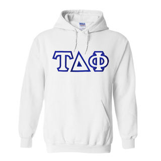 Tau Delta Phi Custom Twill Hooded Sweatshirt