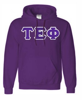 DISCOUNT Tau Epsilon Phi Lettered Hooded Sweatshirt