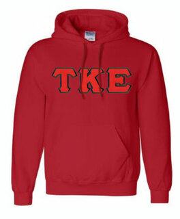 DISCOUNT Tau Kappa Epsilon Lettered Hooded Sweatshirt