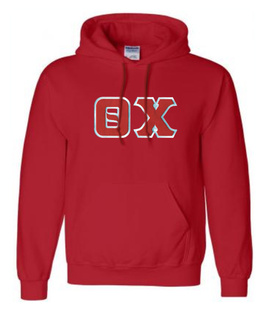 DISCOUNT Theta Chi Lettered Hooded Sweatshirt