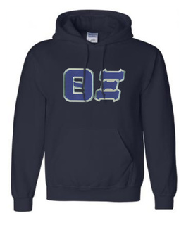DISCOUNT Theta Xi Lettered Hooded Sweatshirt