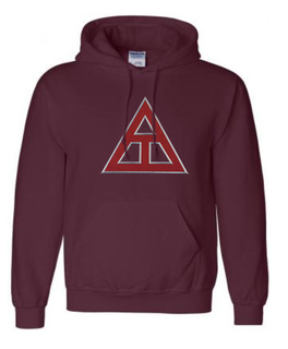 DISCOUNT Triangle Fraternity Lettered Hooded Sweatshirt