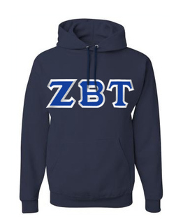 Zeta Beta Tau Custom Twill Hooded Sweatshirt