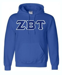 DISCOUNT Zeta Beta Tau Lettered Hooded Sweatshirt