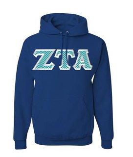 Zeta Tau Alpha Custom Twill Hooded Sweatshirt