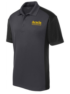 ACACIA- $30 World Famous Greek Colorblock Wicking Polo