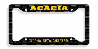 ACACIA Custom License Plate Frame