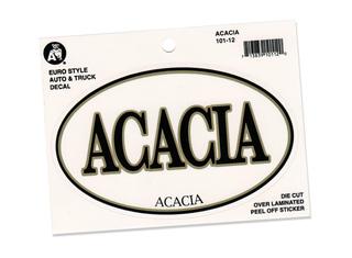 ACACIA Euro Decal Oval Sticker