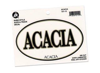 ACACIA Euro Decal Oval Sticker