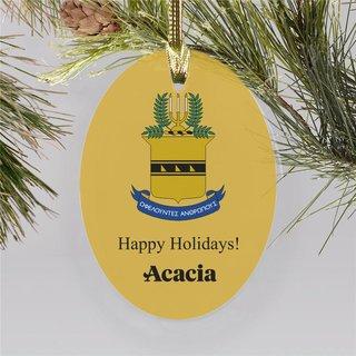 ACACIA Holiday Color Crest - Shield Ornament