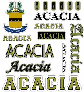 ACACIA Multi Greek Decal Sticker Sheet