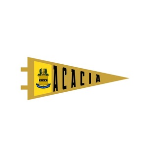 "ACACIA Pennant Decal 4"" Wide"