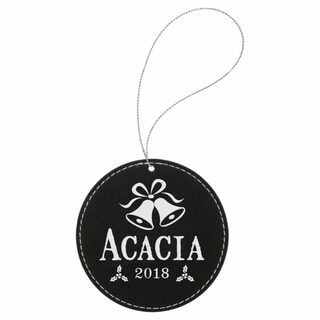 Acacia Leatherette Holiday Ornament