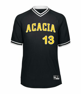 ACACIA Retro V-Neck Baseball Jersey