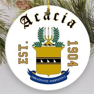 ACACIA Round Christmas Shield Ornament