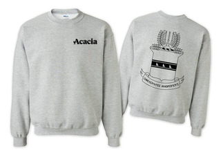ACACIA World Famous Crest - Shield Printed Crewneck Sweatshirt- $25!