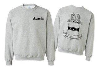 ACACIA World Famous Crest - Shield Crewneck Sweatshirt- $25!
