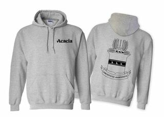 ACACIA World Famous Crest - Shield Hooded Sweatshirt- $35!
