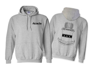 ACACIA World Famous Crest - Shield Printed Hooded Sweatshirt- $35!