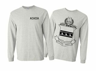 ACACIA World Famous Crest - Shield Long Sleeve T-Shirt- $19.95!